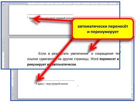 Вставка ссылок и сносок в текст с помощью word Вставка сносок с помощью word 2010
